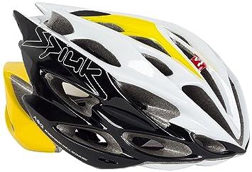 Spiuk Nexion - Casco de ciclismo, color amarillo/blanco/negro, talla 53