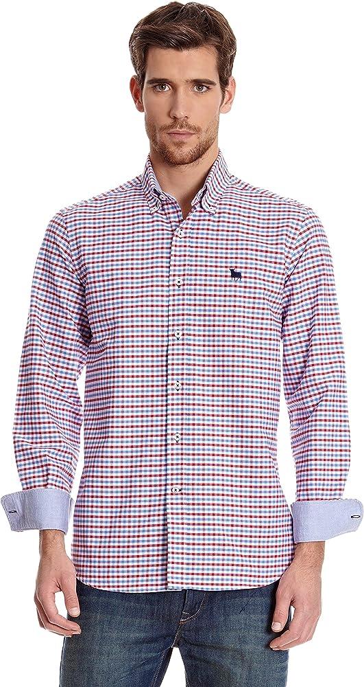 TORO Camisa Botton Down Rojo XL: Amazon.es: Ropa y accesorios