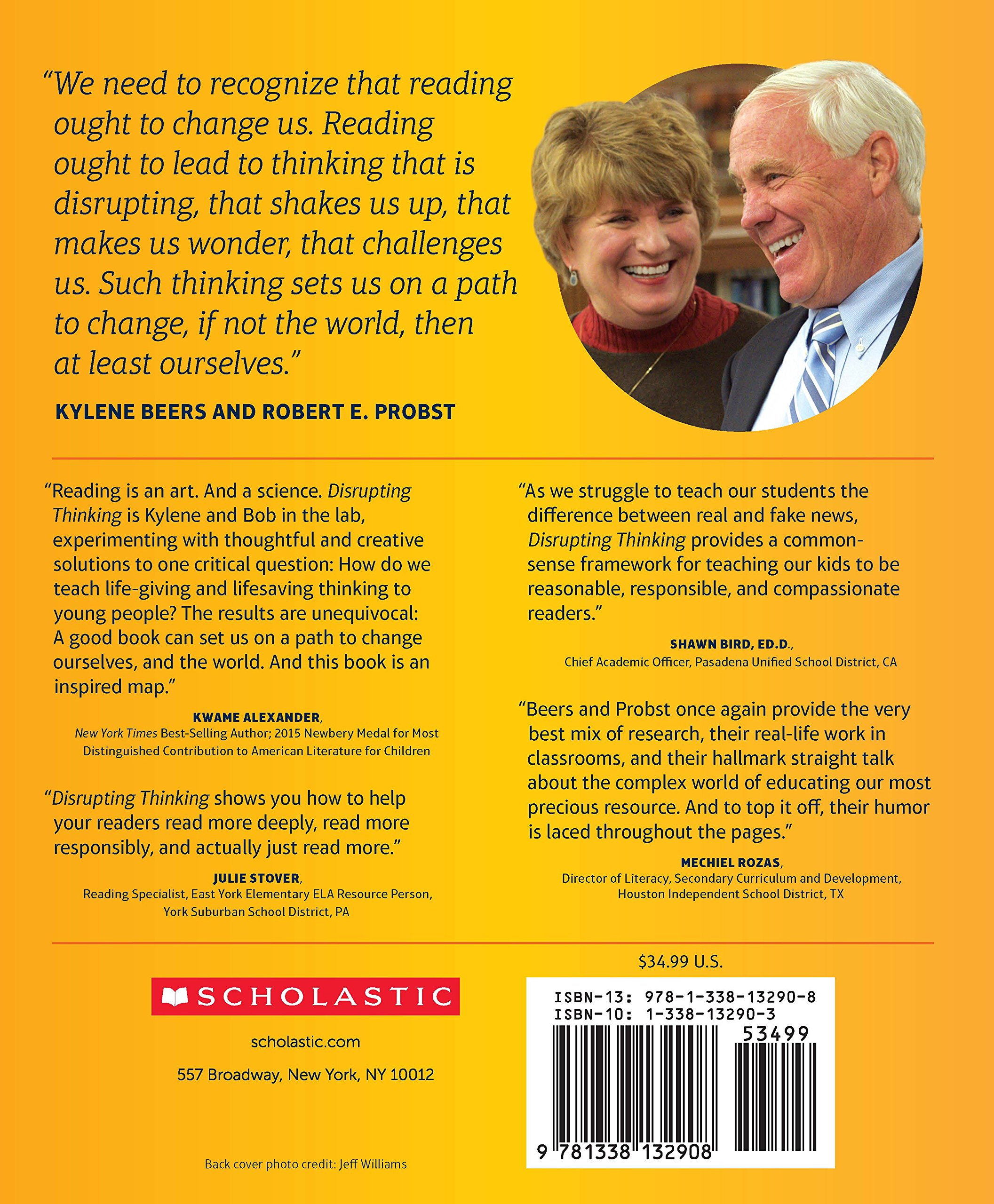 Amazon.com: Disrupting Thinking: Why How We Read Matters (0078073132904):  Kylene Beers, Robert E. Probst: Books