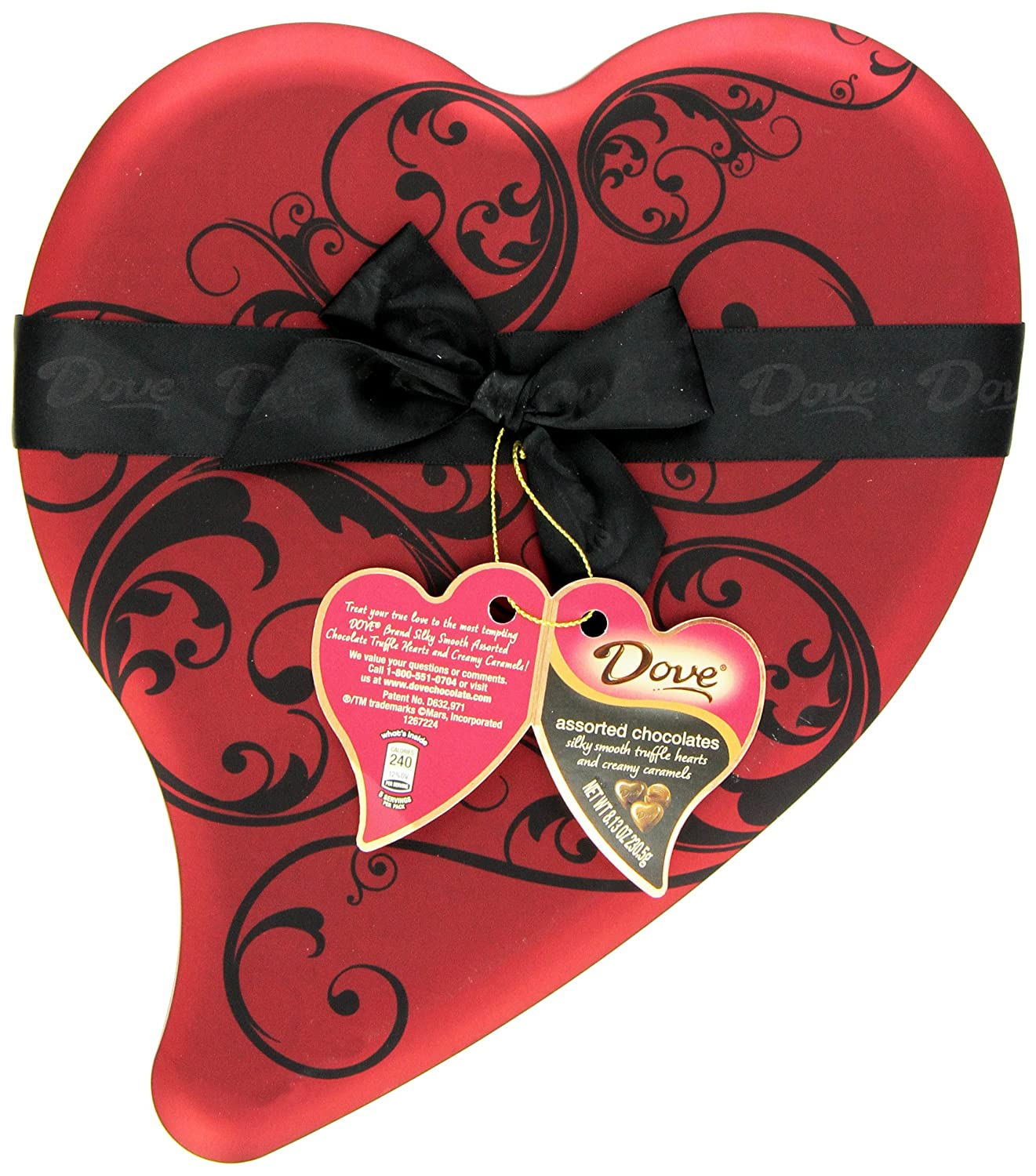 Amazon.com : DOVE Chocolate Valentine's Select Chocolates, 8.13 ...