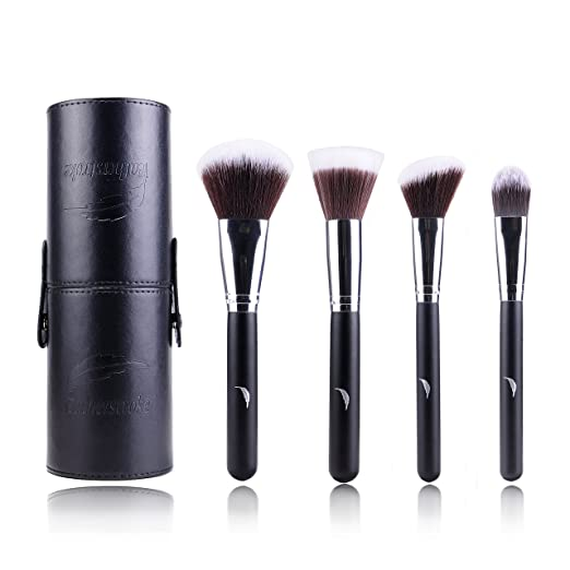 Featherstroke Makeup Brushes - For Your Perfect Canvas - 4 piece Big Brush Makeup Brush Set