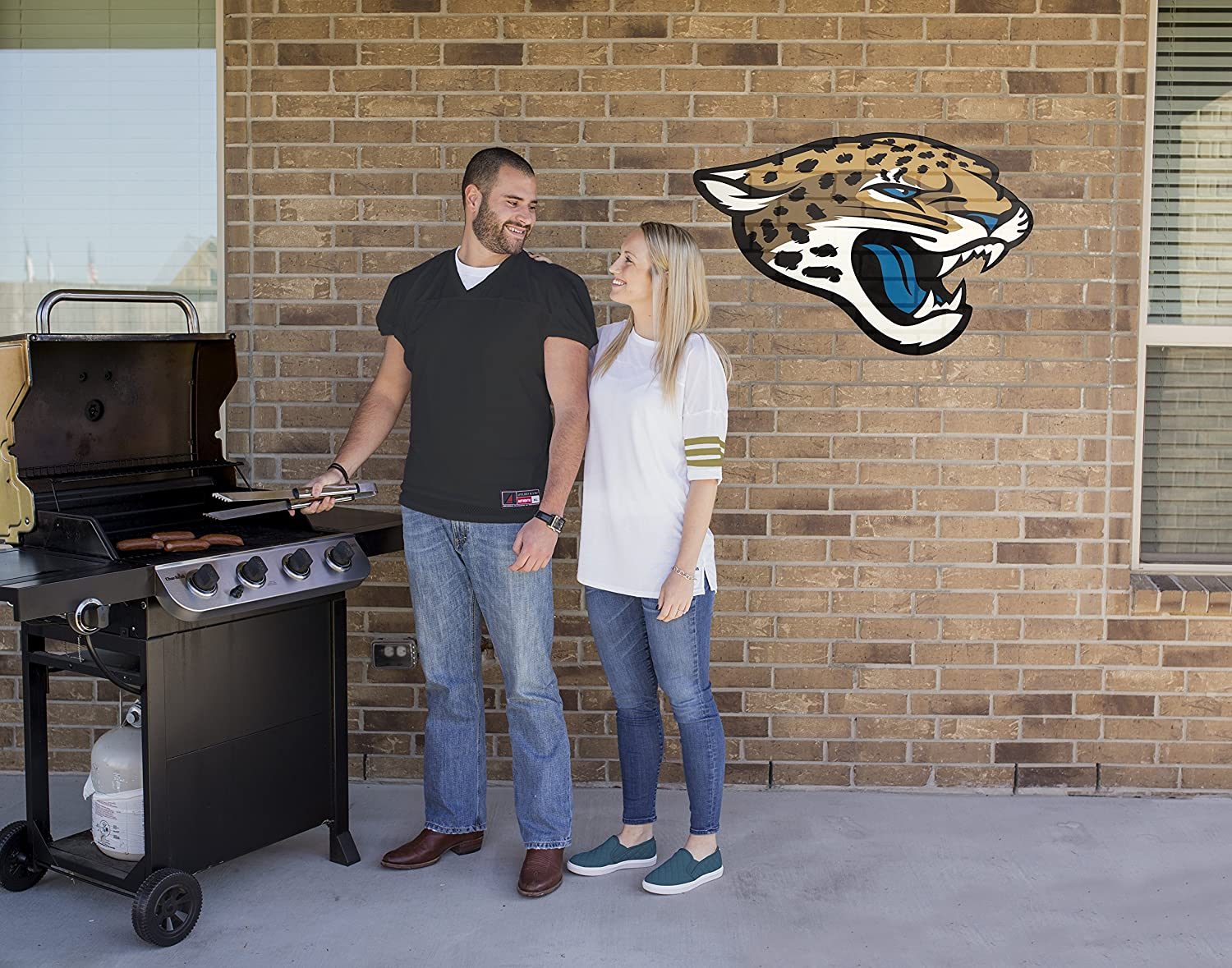 NFL Jacksonville Jaguars Outdoor Large Primary Logo Graphic Decal Applied Icon