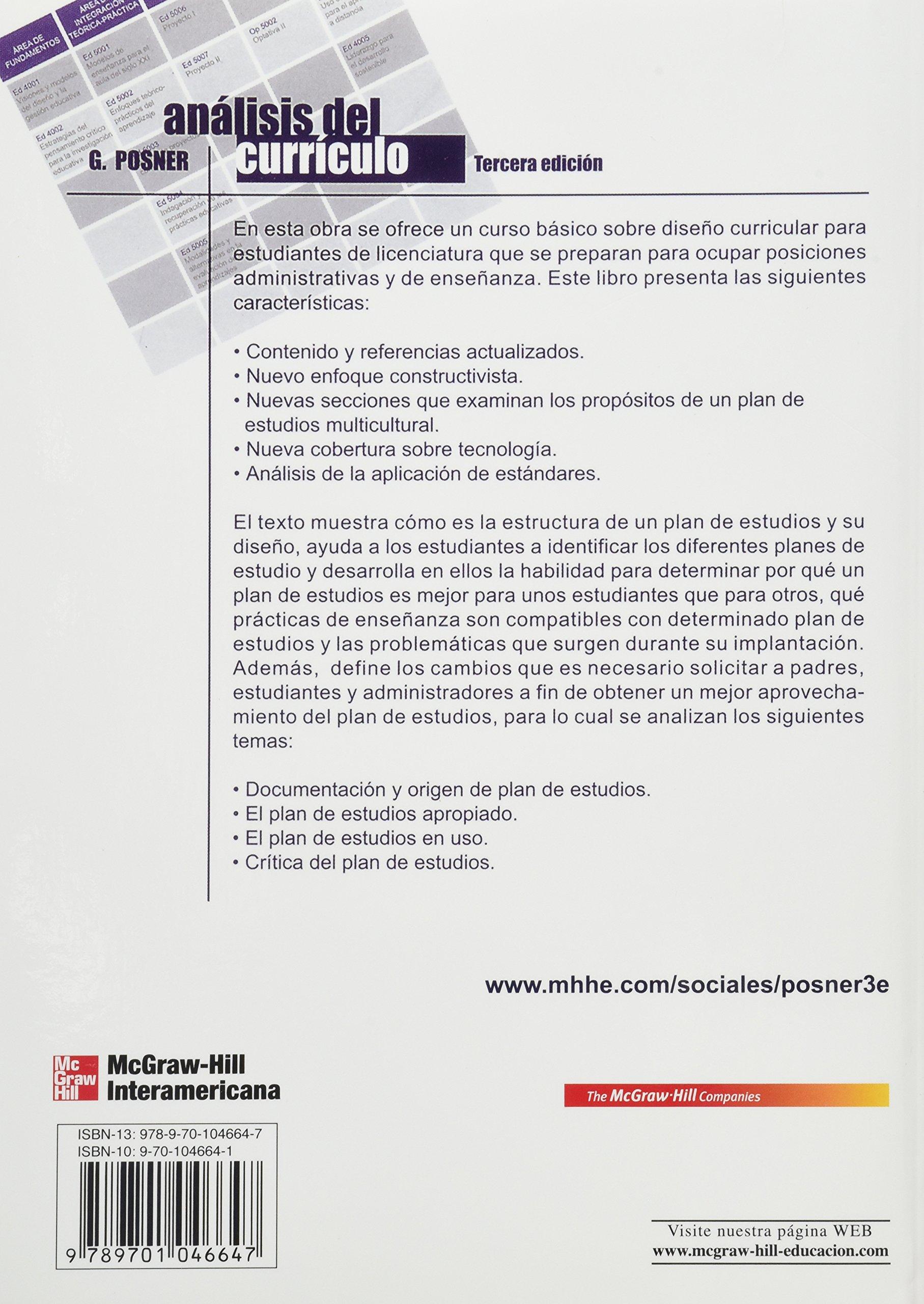 Analisis DeCurriculo: Curriculum Analysis: Amazon.es: George J ...