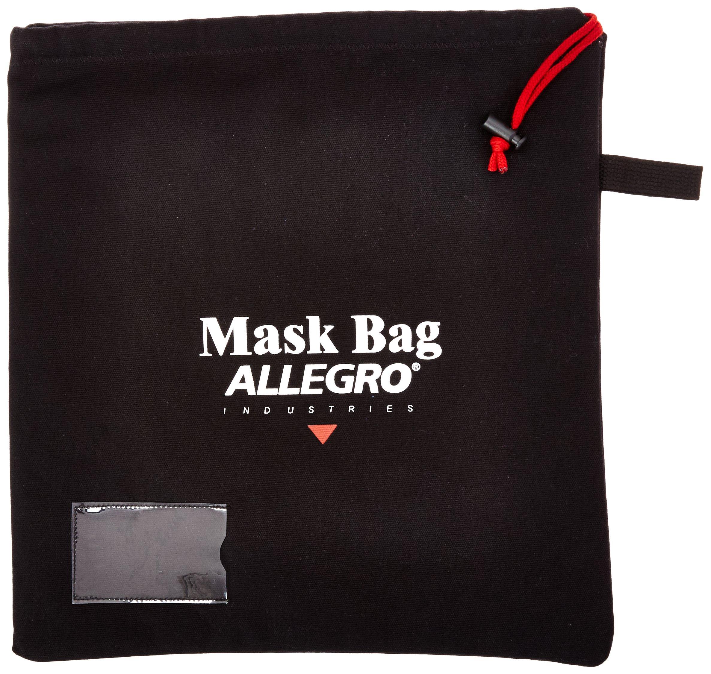 Allegro Industries 2025 Full Mask Storage Bag, 16'' x 14'', Black