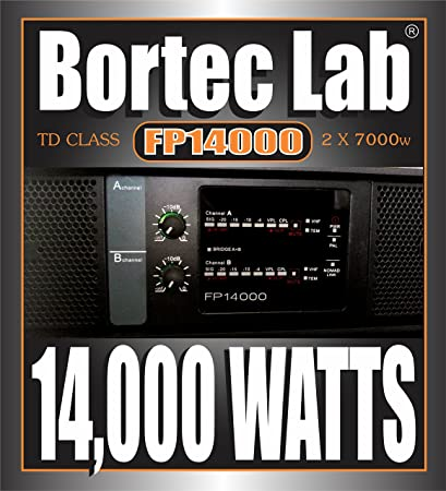Bortec Lab FP14000/SP 110v 2x7000 Watt RMS TD Professional High Density Touring Power Amplifier