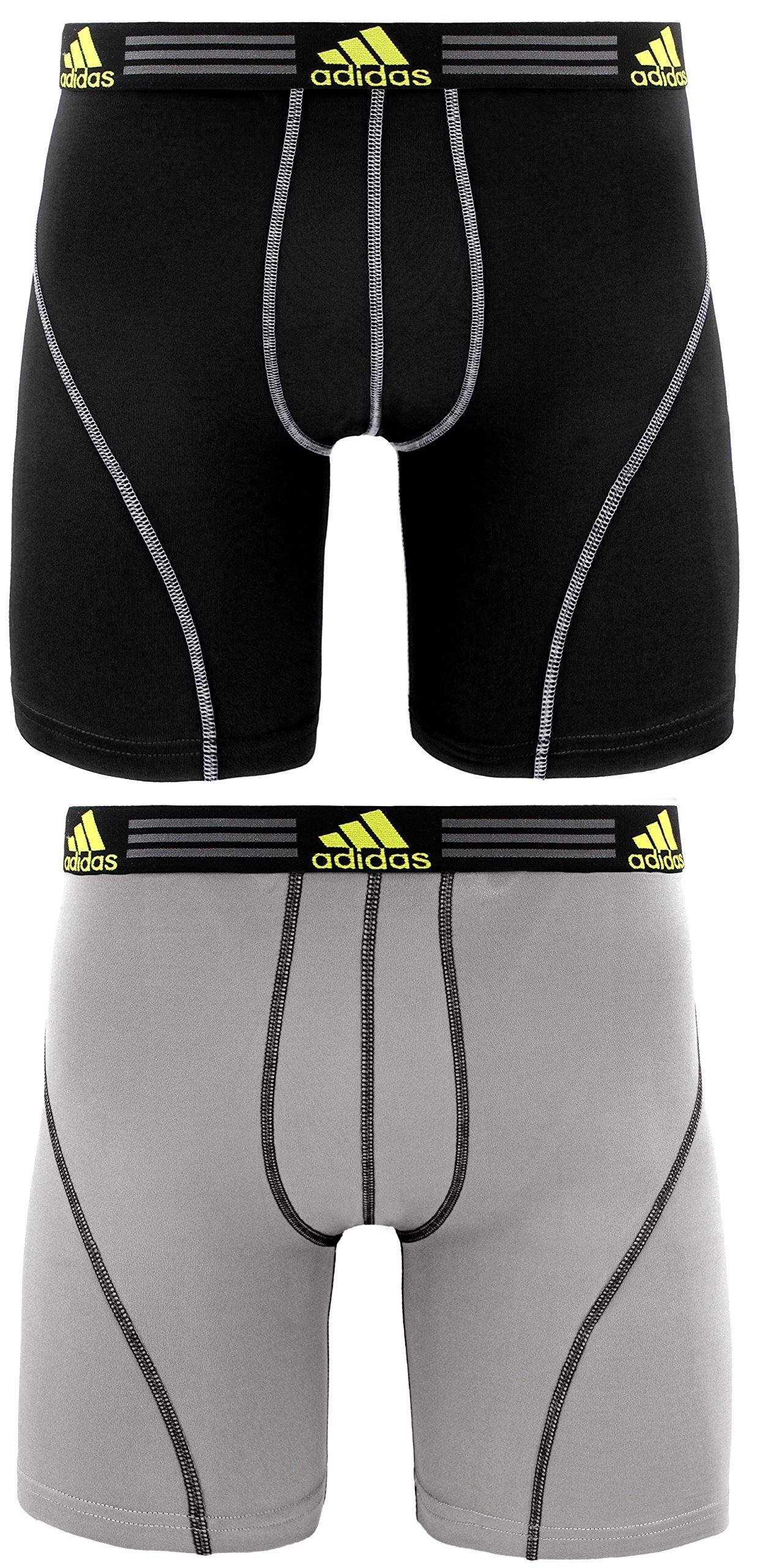 adidas Men's Sport Performance Climalite Midway Underwear (2 Pack)