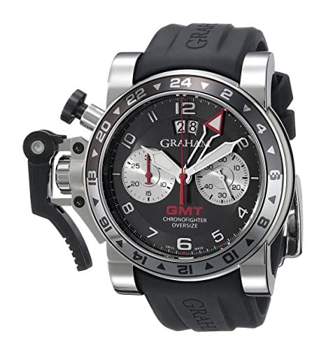 c763dc285cbc Graham Hombre 2ovgs. b39 a.k10s chronofighter pantalla analógica Swiss -  Reloj automático negro  Graham  Amazon.es  Relojes
