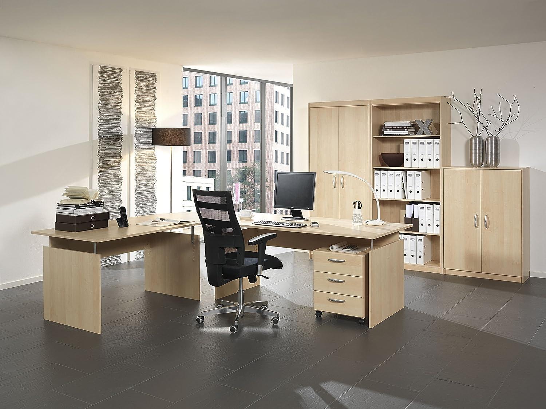 Wellemöbel Büro Aktion, Schreibtisch, 120 x 80 cm, Buche: Amazon.de ...