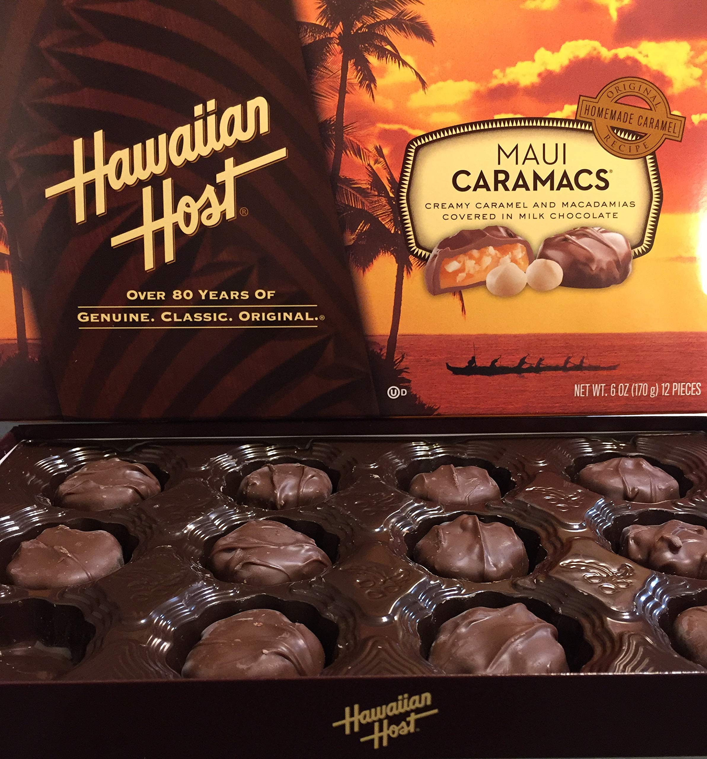 Hawaiian Host Value Pack Macadamia Nuts Maui Caramacs 3 Boxes by Hawaiian Host