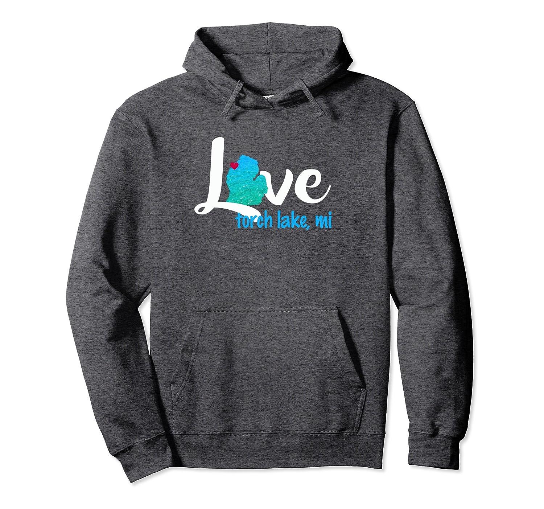 Torch Lake Michigan Love Sandbar Hoodie Sweatshirt-Awarplus