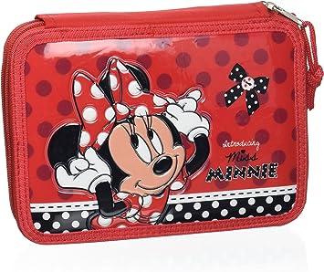 Atosa-27309 Disney Estuche Minnie, de Dos Cremalleras, Color Rojo, 21x15 cm (27309): Amazon.es: Juguetes y juegos
