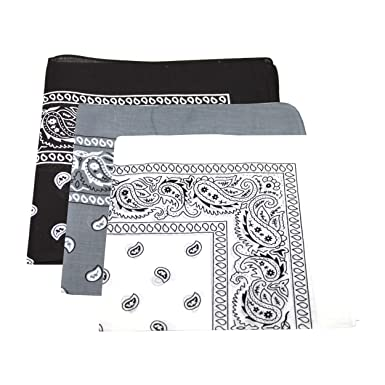 e940ba62378 Lot de 3 foulard en coton pour hommes   femmes - Motif cachemire (Bleu  marine