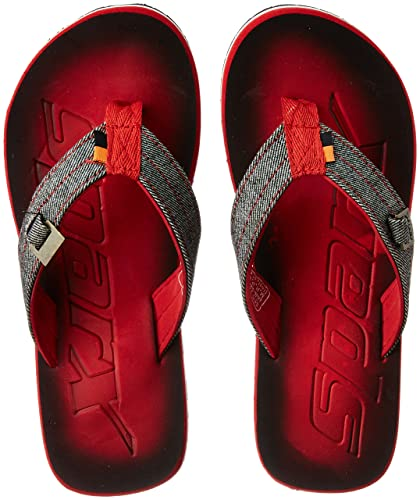 c2960e537822f9 Sparx Men s Red and White Flip-Flops and House Slippers - 6 UK India ...