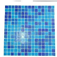 Vetro Mosaico SASSARI Mosaico De Vidrio, Mezcla Azul