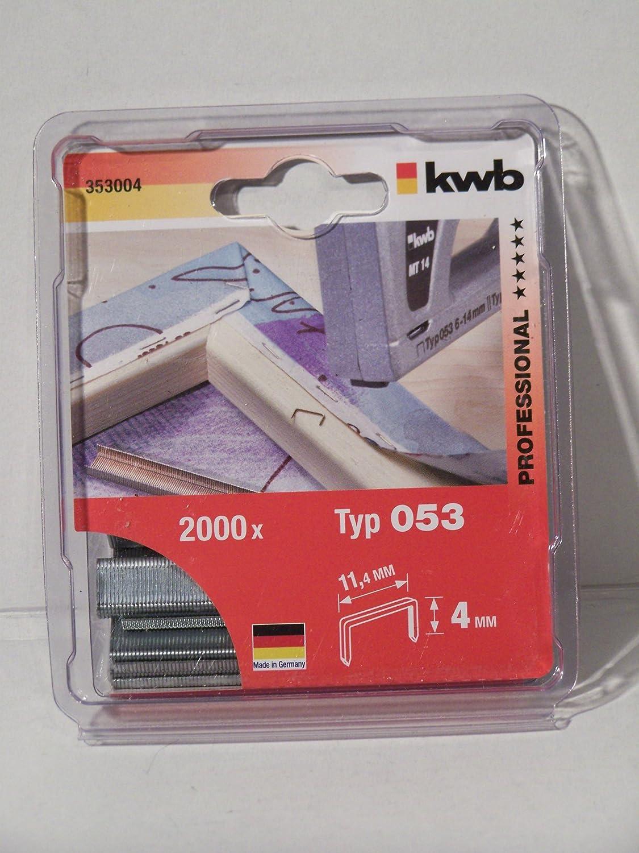 KWB 353-004 Klammern C-Spitze Feindraht Typ 053//353 Standard