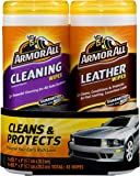 Armor All 82646 Cleaning and Leather Wipes - 25 sheets (pack of 2)