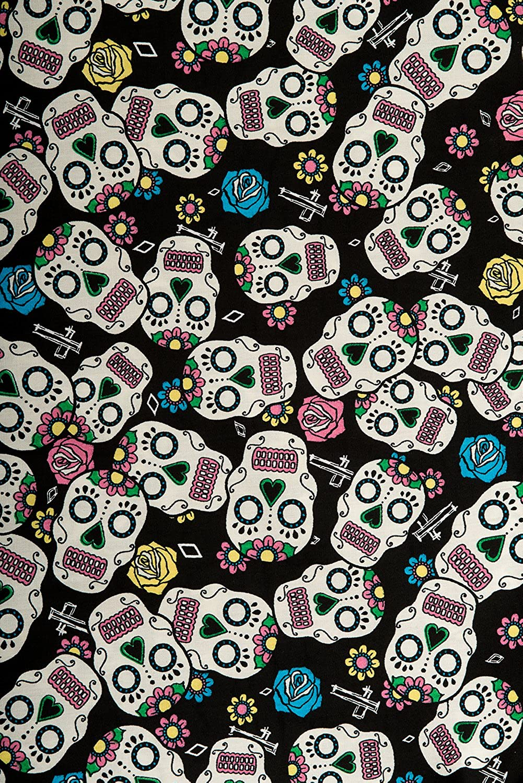 Hell Bunny Plus Size Black Gothic Calavera Skull 50/'s Rockabilly Dress 2X 3X 4X