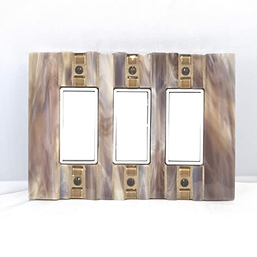 Amazoncom Tan Triple Switch Plate Light Switch Cover Marbled