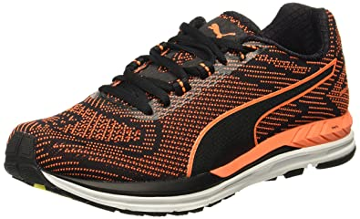 Puma Men s Speed 600 S Ignite Black-Shocking Orange Running Shoes - 10 UK  8e5ca91f5
