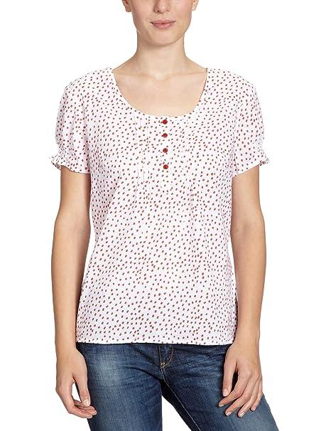 de3a6cdc7 LERROS - Blusa de manga corta para mujer, talla 38, color Rosa (Hibiscus