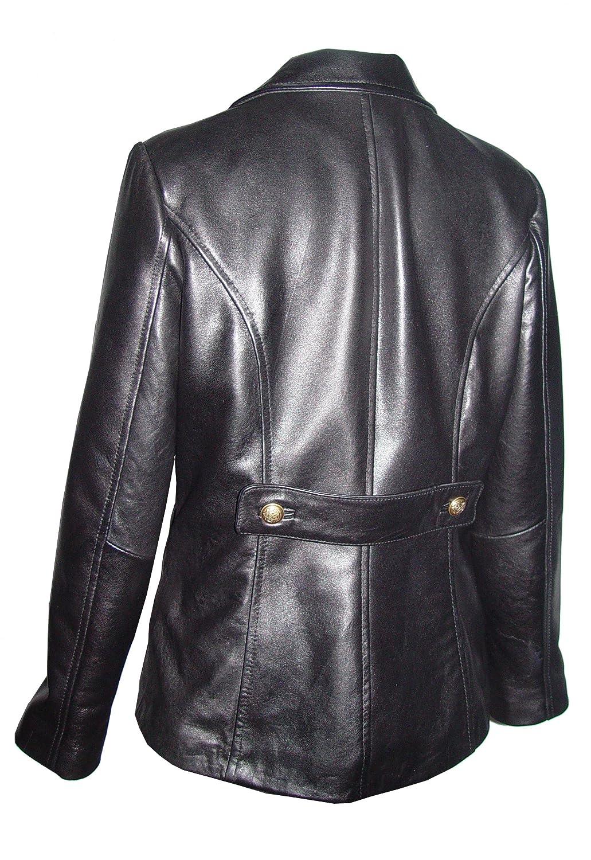 Nettailor Women Petite Fashion 4101 Basic Lamb Leather Long Blazer 4101prntblzptt
