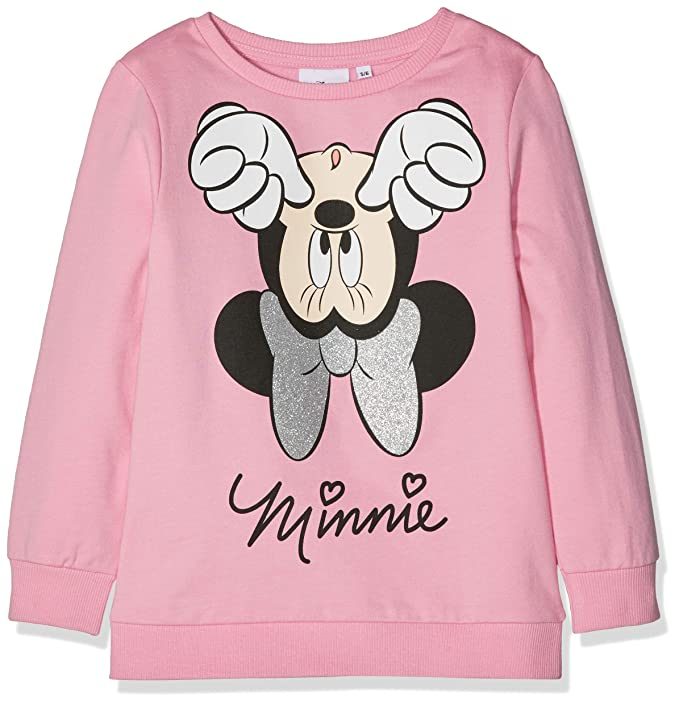 Disney Minnie Mouse Upside Down Minnie Mouse, Sudadera para Niñas: Amazon.es: Ropa y accesorios