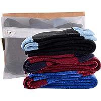 Laulax Juego de 3 pares de calcetines de esquí para niños, estilo cachemira, para niños, talla 33-39, color negro, azul…