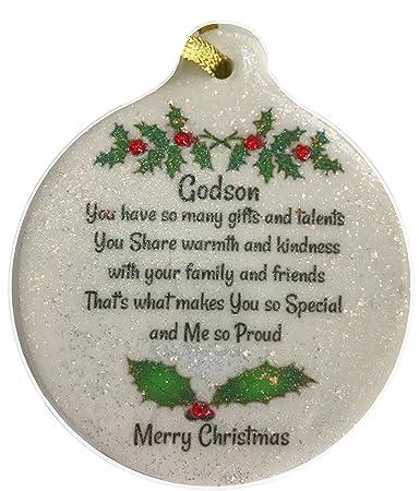 Amazoncom Godson Love 2017 Porcelain Christmas Ornament