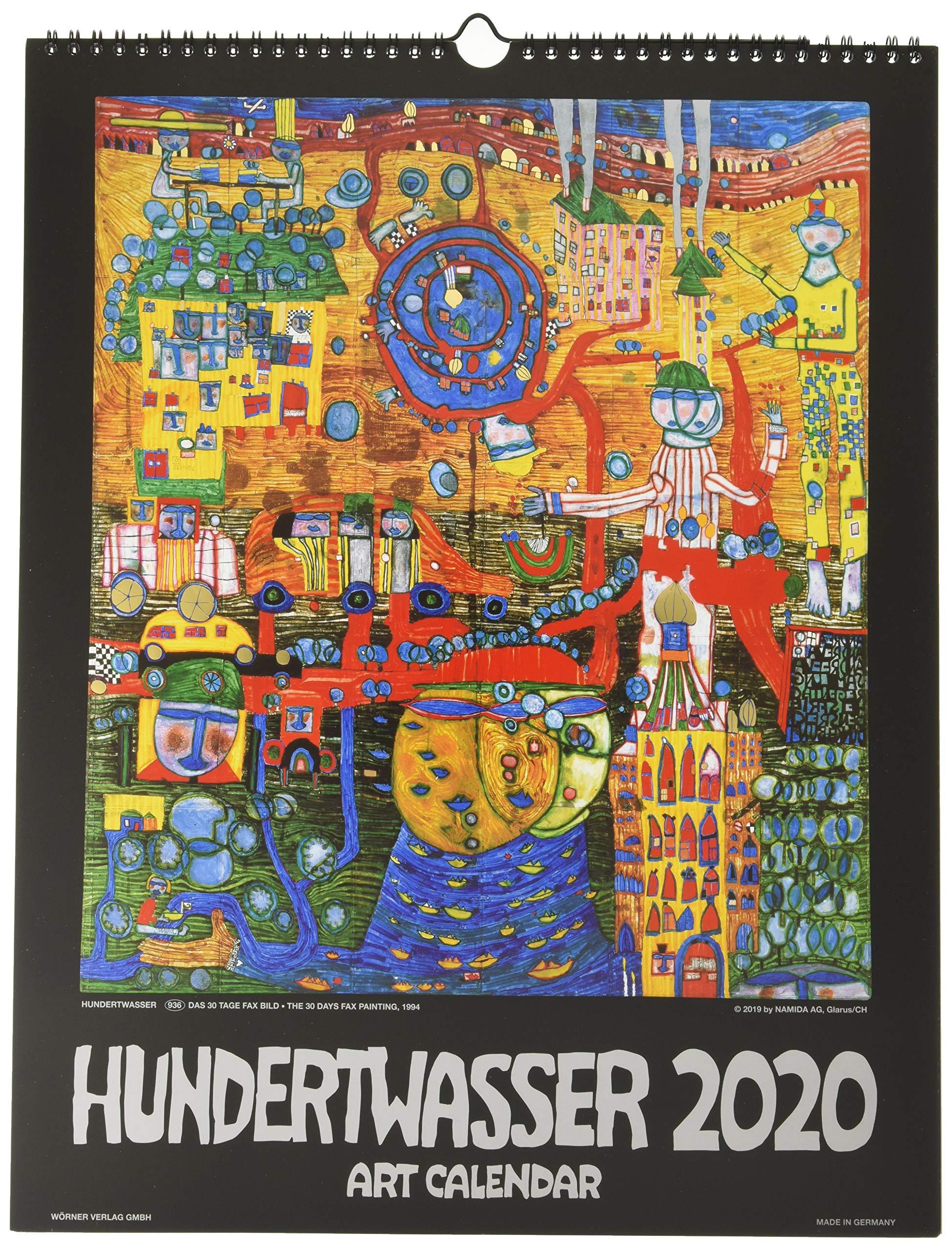 Hundertwasser Art Calendar 2020: 9783946177647: Amazon.com ...