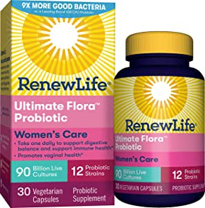 Renew Life - Ultimate Flora Probiotic Women's Complete - 90 billion - probiotics for women - daily digestive and immune health supplement - 30 vegetable capsules