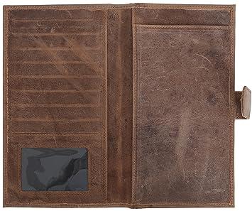 Gusti Leder studio Sharon Cartera de Cuero Monedero Billetera Dinero Identificación Tarjetas Monedas 2A47-17-1: Amazon.es: Equipaje