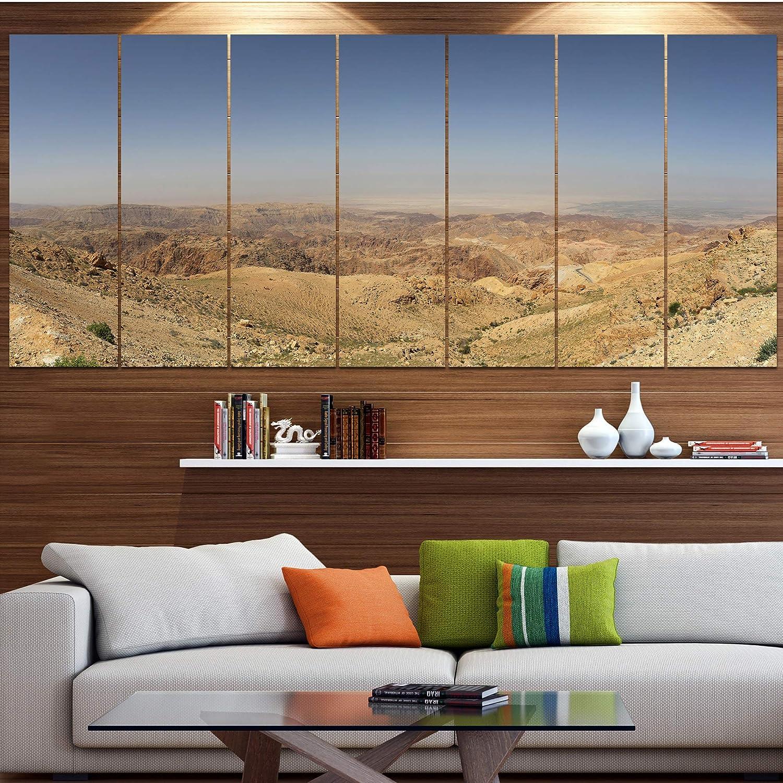 Design Art Designart Panorama Desert Hills Jordan Modern Landscape Art Multi Color 70 In Wide X 28 In High 6 Panels Posters Prints