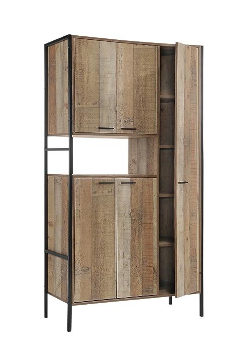 Timber Art Design Stretton Urban Kitchen Cabinet Unit With 5 Doors