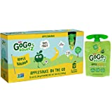 GoGo squeeZ Applesauce, Apple Banana, 12 Pouches