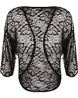 Ladies Lace Shrug Womens Cardigan Bolero Top Plus Sizes 14-24