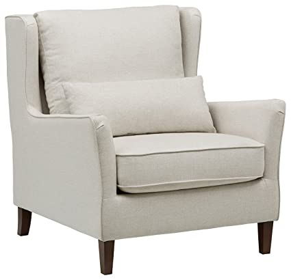 Superbe Stone U0026 Beam Sascha Wingback Removable Cushion Chair, 35u0026quot;W, Off White