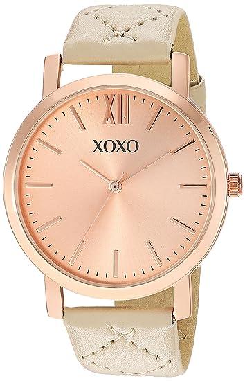 XOXO - Reloj de cuarzo para mujer, estilo casual, color beige (modelo: