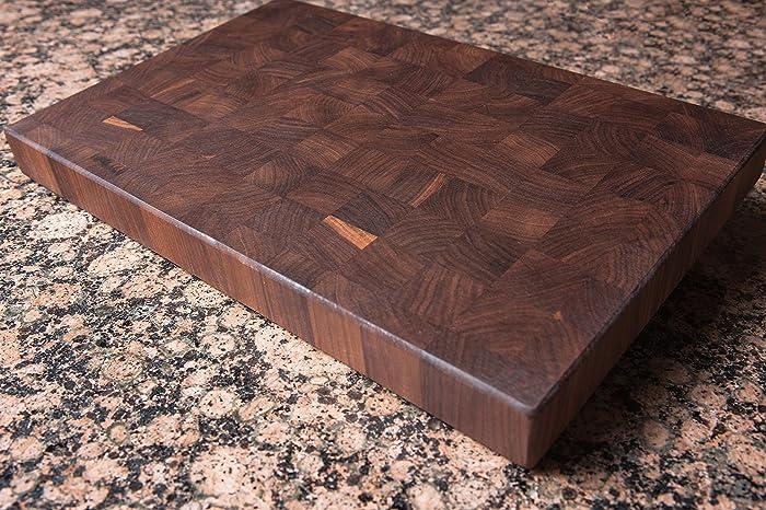 Lovely Large Wood Cutting Board Part - 13: Chopping Blox Walnut End Grain Handmade Wood Cutting Board Large - (TRXM)