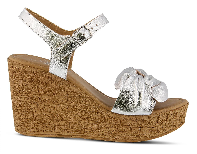 Azura Women's Style M/ Lesina Leather Sandal B07BM9BYKT 37 EU M/ Style US 6.5-7|Silver 65aa61