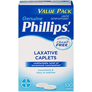 Phillips Laxative Caplets 100-Count: Amazon.es: Salud y cuidado personal