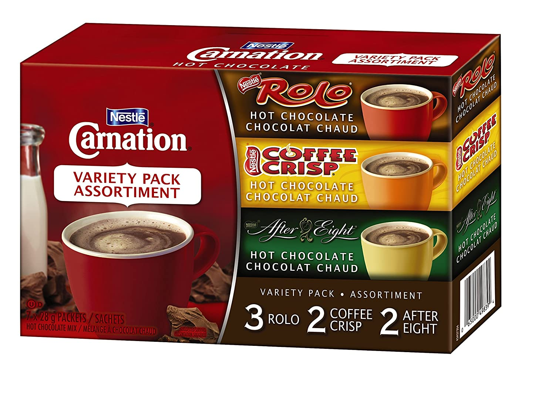 Amazon.com : Nestle Carnation Hot Chocolate Variety Pack Rolo ...