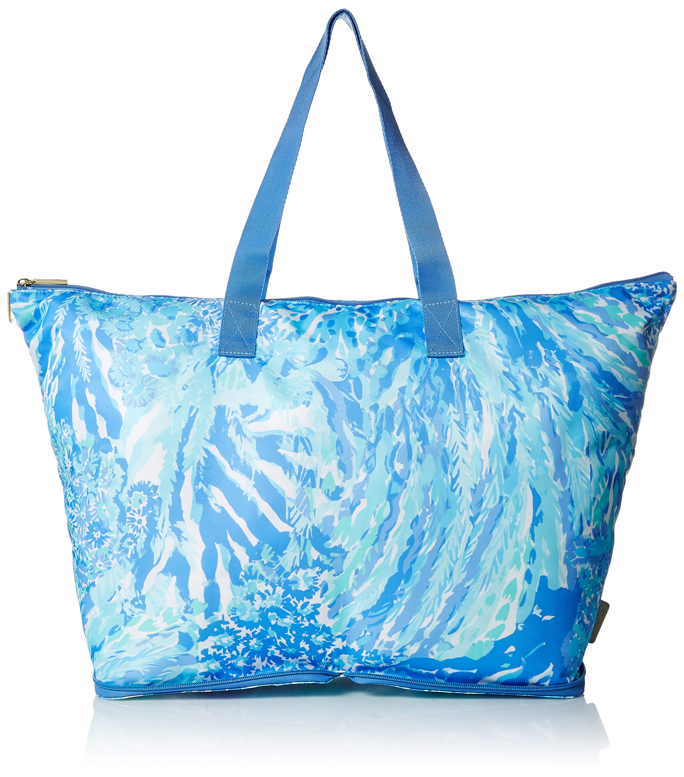 Lilly Pulitzer Women's Getaway Packable Tote, Blue Heaven Hey Soleil, 1 SZ by Lilly Pulitzer