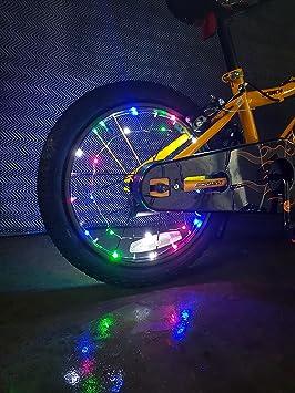 BUBULAND Luces de Rueda de Bicicleta, seguras y Frescas, 2 por Paquete, 20