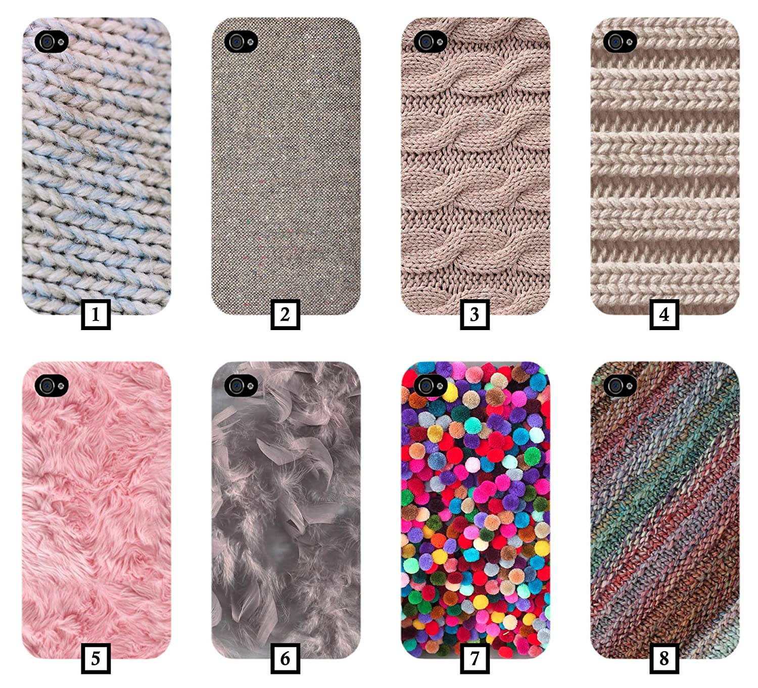 Wool Phone Case Cover Knitting Pom Pom Poms Fur Pink Feathers Cotton Novelty iPhone Samsung Galaxy Google Pixel Huawei LG Sony Xperia OnePlus HTC Nokia 2 3 4 5 6 7 8 9 10 11 XL Plus PC135