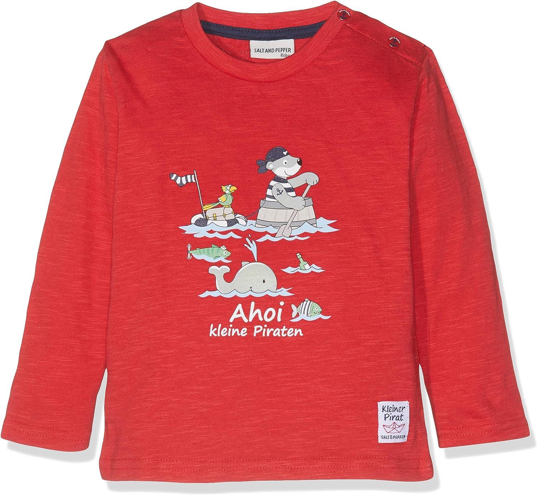 Salt /& Pepper B T-Shirt Pirat Stripe Bande B/éb/é gar/çon