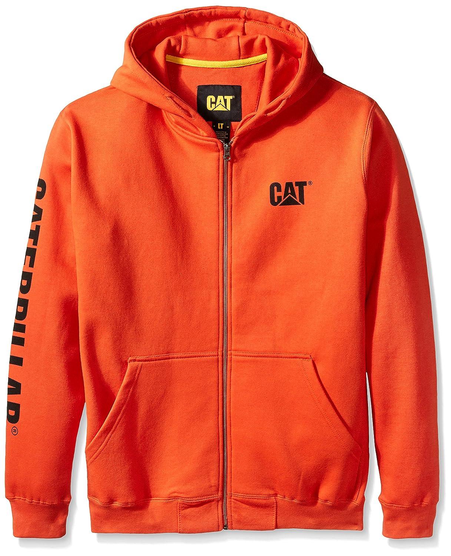 Caterpillar Men 's Big and Tall Full Zipフード付きスウェットシャツ B01BYYEOIE X-Large / Tall|Adobe Orange Adobe Orange X-Large / Tall