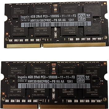 2X4GB SO-DIMM LAPTOP RAM CARD 2Rx8 DDR3 PC3-12800S HMT351S6CFR8C-PB HYNIX 8GB