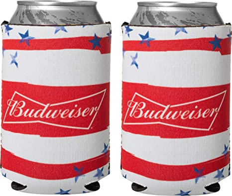 Amazon Com Officially Licensed Budweiser Drink Can Holder Neoprene Beer Huggie Cooler Sleeve 2 Kitchen Dining