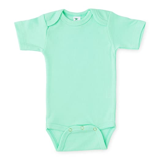 2c56c5e16b0f Image Unavailable. Image not available for. Color  Laughing Giraffe Baby  Unisex Plain Blank Solid Cotton Short Sleeve Infant Bodysuit Onesie ...