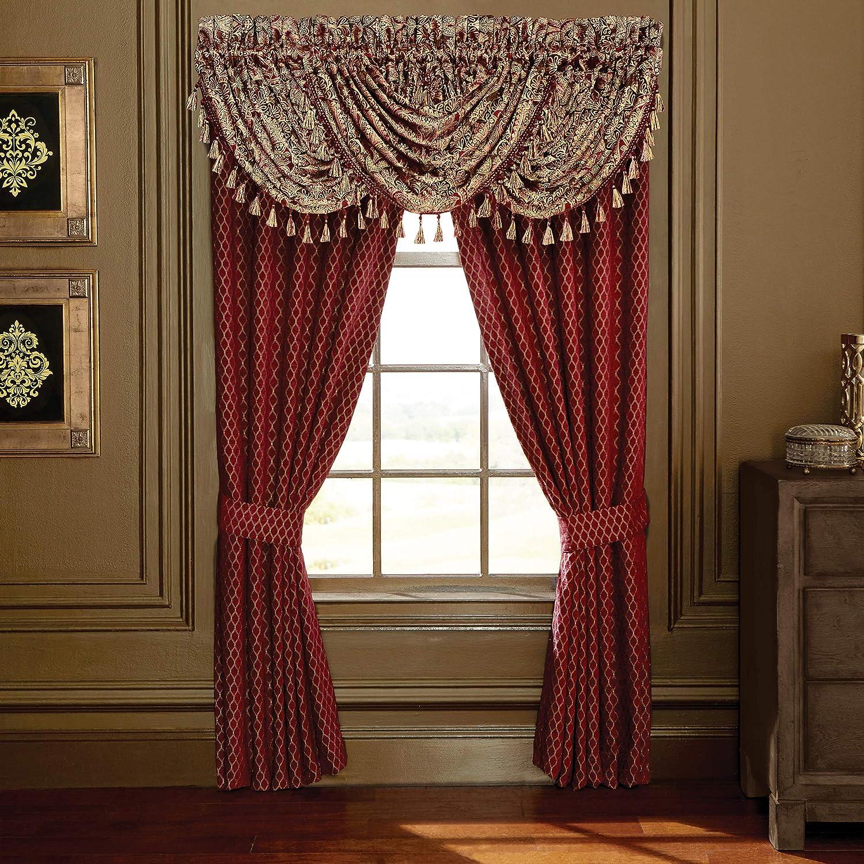 Croscill Roena Curtain Panel Pair, Burgundy